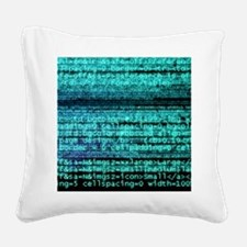 Internet computer code Square Canvas Pillow