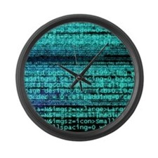 Internet computer code Large Wall Clock