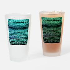 Internet computer code Drinking Glass