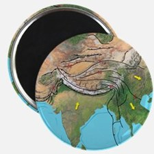 Tectonic map of Asia Magnet