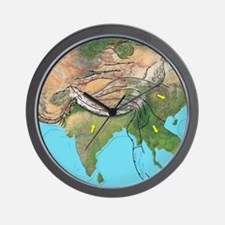 Tectonic map of Asia Wall Clock