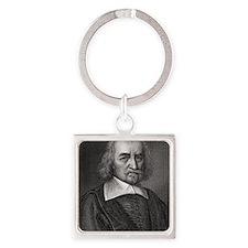 Thomas Hobbes, English philosopher Square Keychain