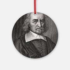Thomas Hobbes, English philosopher Round Ornament