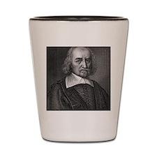 Thomas Hobbes, English philosopher Shot Glass