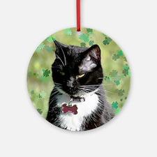 St. Patrick cat Round Ornament