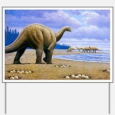 Titanosaur Yard Sign
