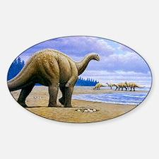 Titanosaur Sticker (Oval)