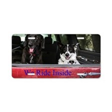 We ride inside Aluminum License Plate
