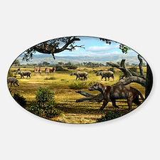 Wildlife of the Miocene era, artwor Decal