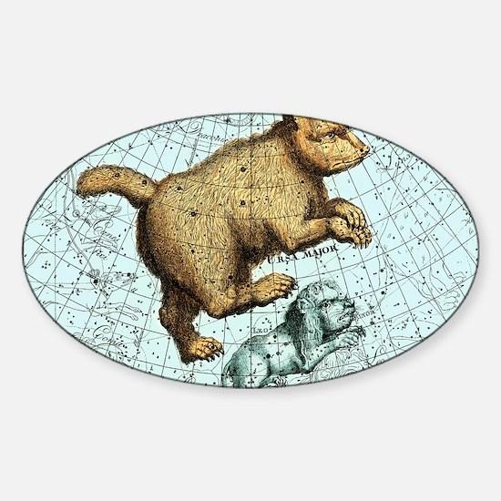 Ursa Major constellation, Bode Star Sticker (Oval)