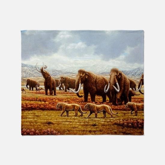 Woolly mammoths Throw Blanket