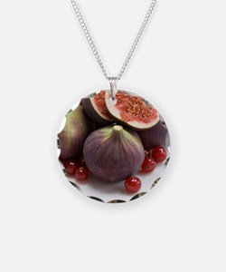 Whole and halved figs Necklace