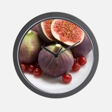 Whole and halved figs Wall Clock