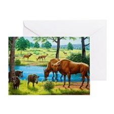 Wildlife of the Pleistocene era Greeting Card