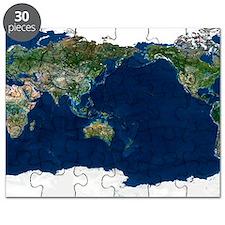 Whole Earth, satellite image Puzzle