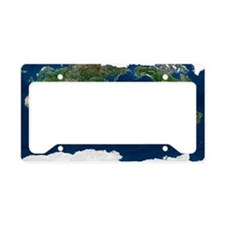 Whole Earth, satellite image License Plate Holder