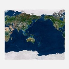 Whole Earth, satellite image Throw Blanket