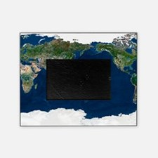 Whole Earth, satellite image Picture Frame