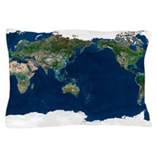 Whole Earth, satellite image Pillow Case