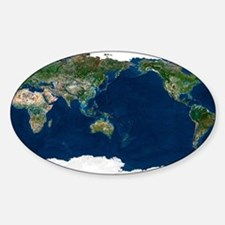 Whole Earth, satellite image Decal