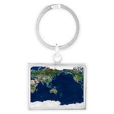Whole Earth, satellite image Landscape Keychain
