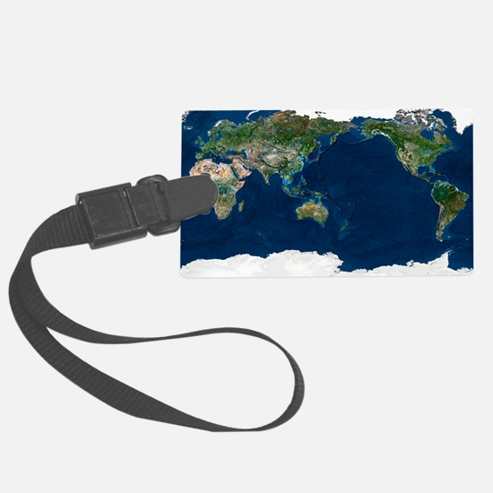 Whole Earth, satellite image Luggage Tag