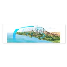 Water cycle, artwork Bumper Sticker
