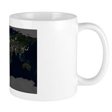 Whole Earth at night, satellite image Mug