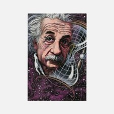 Albert Einstein, German physicist Rectangle Magnet