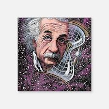 """Albert Einstein, German phy Square Sticker 3"""" x 3"""""""