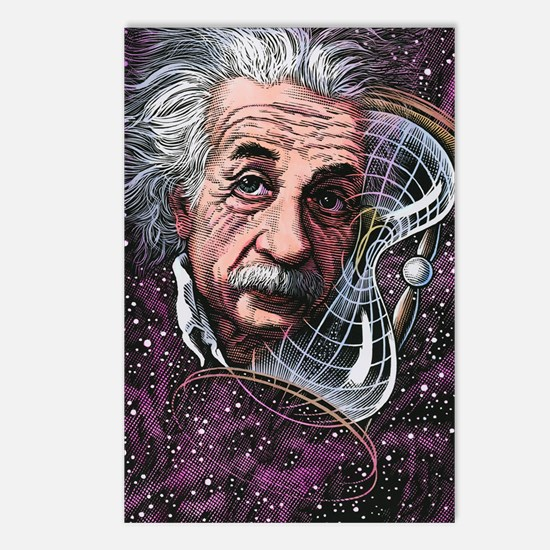 Albert Einstein, German p Postcards (Package of 8)