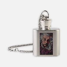 Albert Einstein, German physicist Flask Necklace