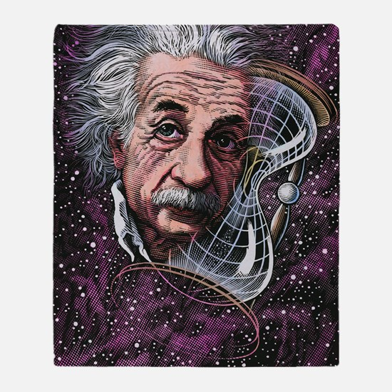 Albert Einstein, German physicist Throw Blanket