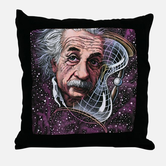 Albert Einstein, German physicist Throw Pillow