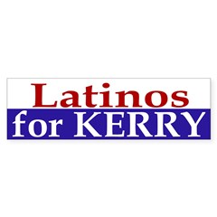 Latinos for Kerry (bumper sticker)
