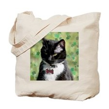 Saint Patrick kitty Tote Bag