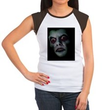 Haunted Demon Face Women's Cap Sleeve T-Shirt