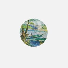 Van Gogh Fishermen and Boats Mini Button