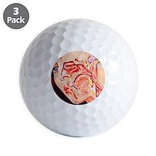 Artwork of ear, nose Golf Ball
