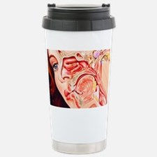 Artwork of ear, nose Stainless Steel Travel Mug