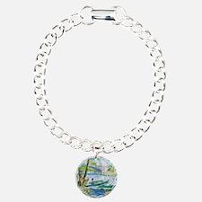 Van Gogh Fishermen and B Charm Bracelet, One Charm