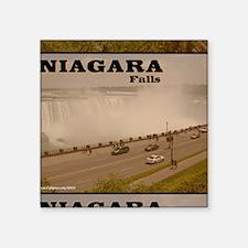 """Niagara Falls Calendar Square Sticker 3"""" x 3"""""""
