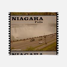 Niagara Falls Calendar Throw Blanket