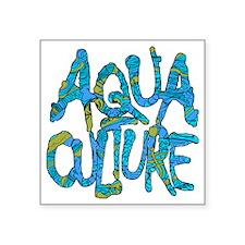 "AQUA CULTURE CAMO Square Sticker 3"" x 3"""
