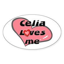 celia loves me Oval Bumper Stickers