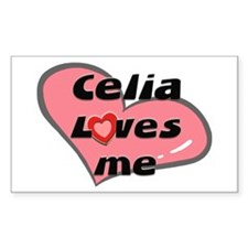 celia loves me Rectangle Bumper Stickers