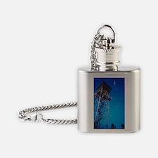 Iridium satellite flare Flask Necklace