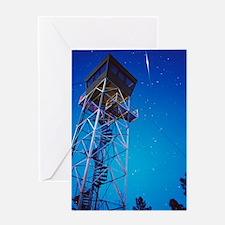 Iridium satellite flare Greeting Card