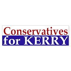 Conservatives for Kerry (bumper sticker)