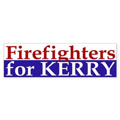 Firefighters for Kerry (bumper sticker)